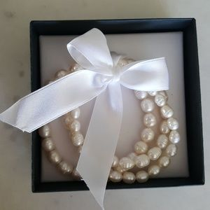 NEW Honora Collection White Pearl Bracelet Set